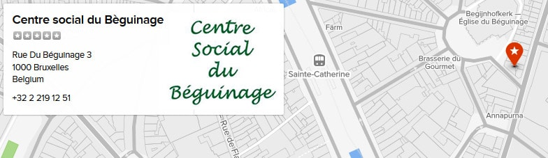 CSB, Centre social Béguinage: plan de rue